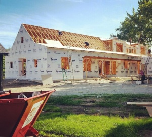 New Modern Farmhouse - Framing Progress - HAUS Architecture, Christopher Short, Indianapolis Architect