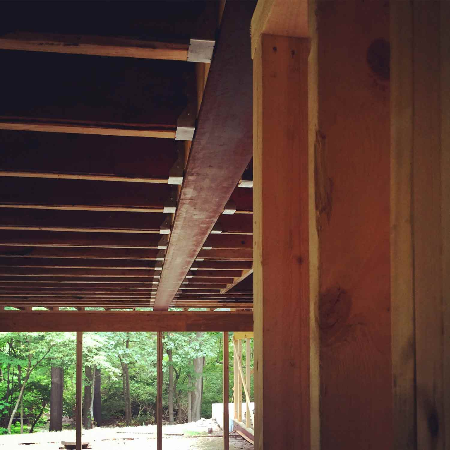 Mid-century Modern Renovation 2 - New Steel Beam - HAUS Architecture, Christopher Short, Indianapolis Architect