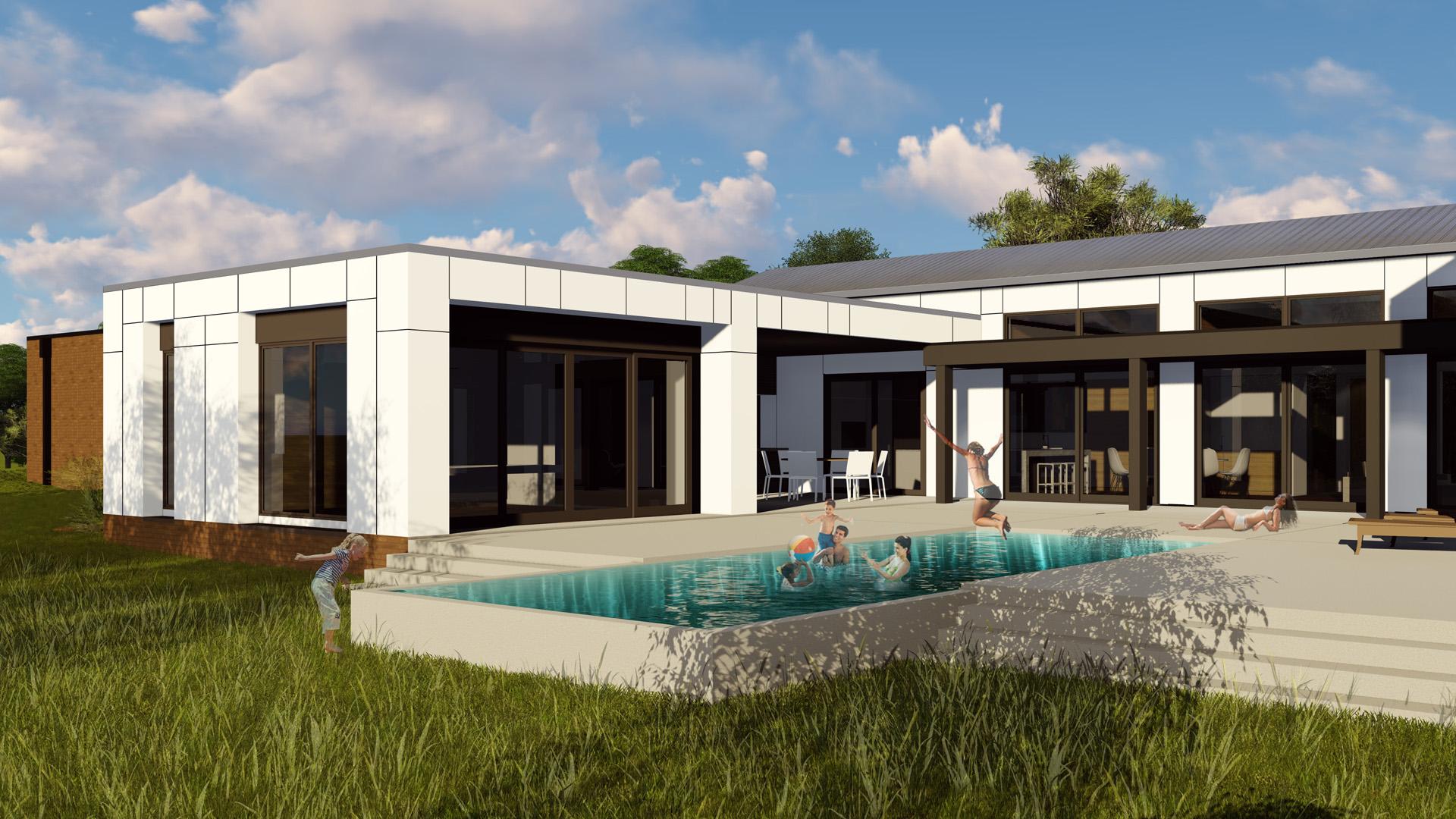 New Modern House Ditch