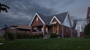 Classic Irvington Tudor Remodel - Front Elevation - Christopher Short, Architect, Indianapolis, HAUS Architecture