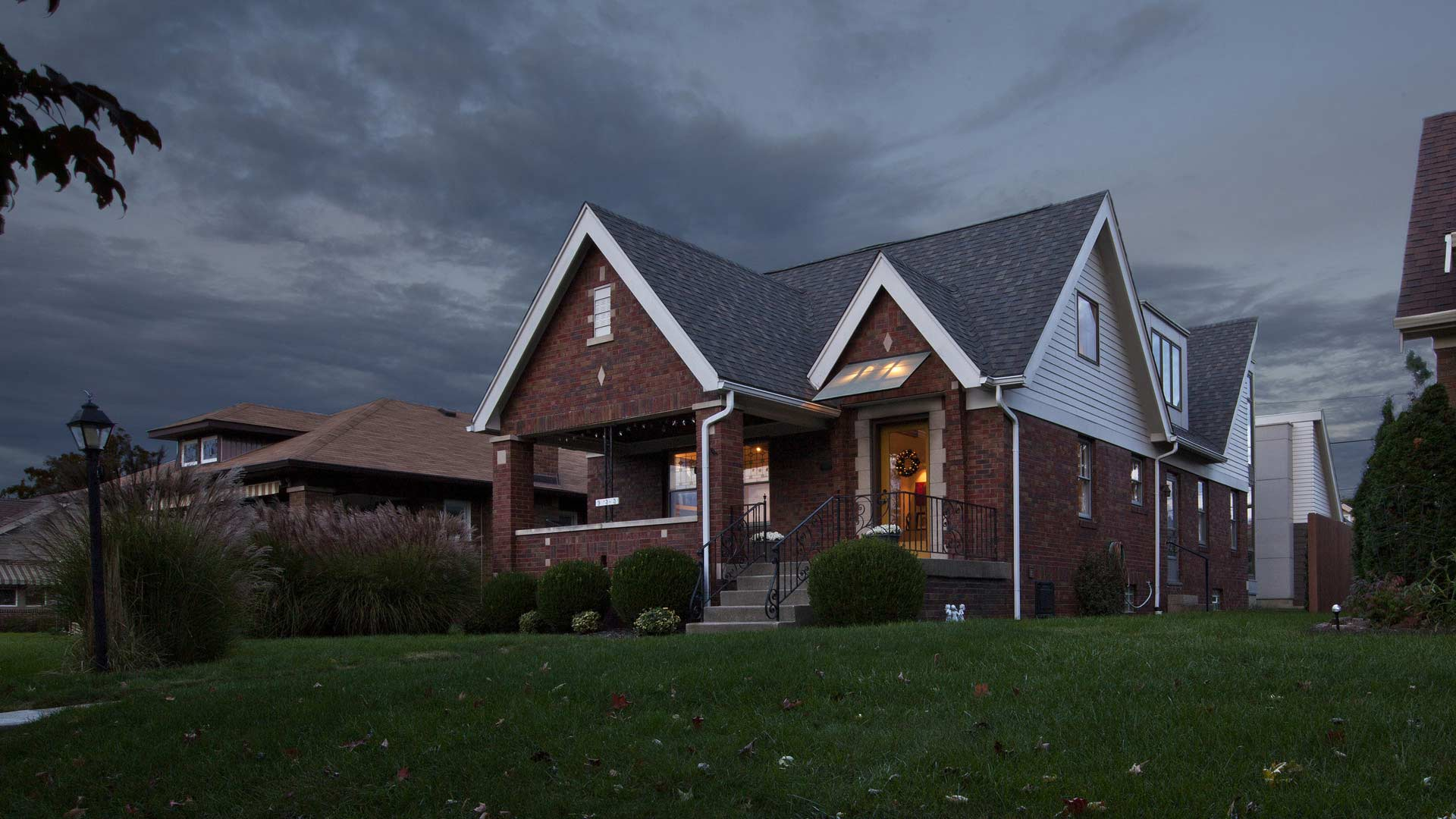 Classic Irvington Tudor Remodel - Front Elevation - Christopher Short, Architect, Indianapolis, HAUS Architecture