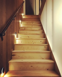 New Modern House 1 - Architectural Stair - Christopher Short, Architect, Indianapolis, HAUS Architecture