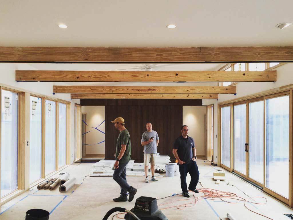New Modern House 1 - Interior Progress - 3 Wise Guys - Kevin Swan, Chris Adams, Derek Mills, HAUS Architecture, WERK Building Modern
