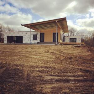 New Modern House 1 - Framing Progress