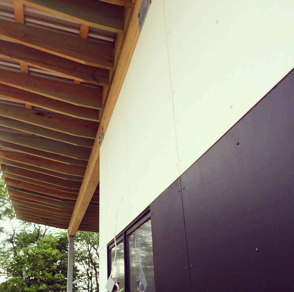 New Modern House 1 - siding detail - HAUS Architecture