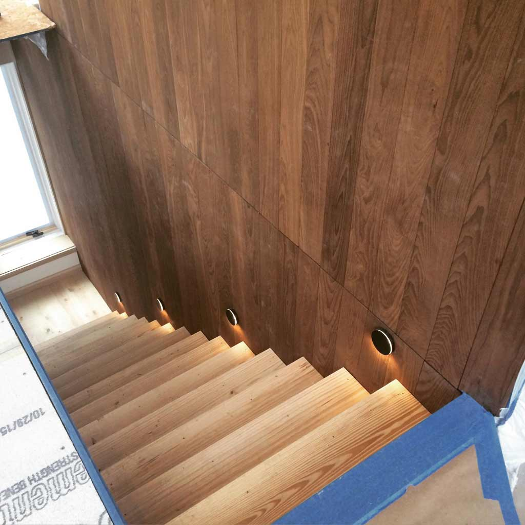 New Modern House 1 - Stair Detail - HAUS Architecture, Christopher Short, Indianapolis Architect - WERK Building Modern