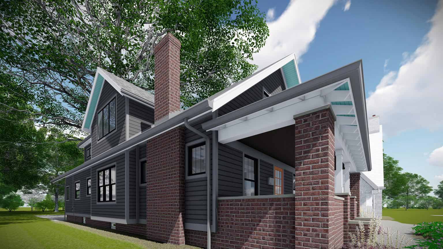 Broad Ripple Modern Craftsman Renovation - Christopher Short, Architect, Indianapolis, HAUS Architecture