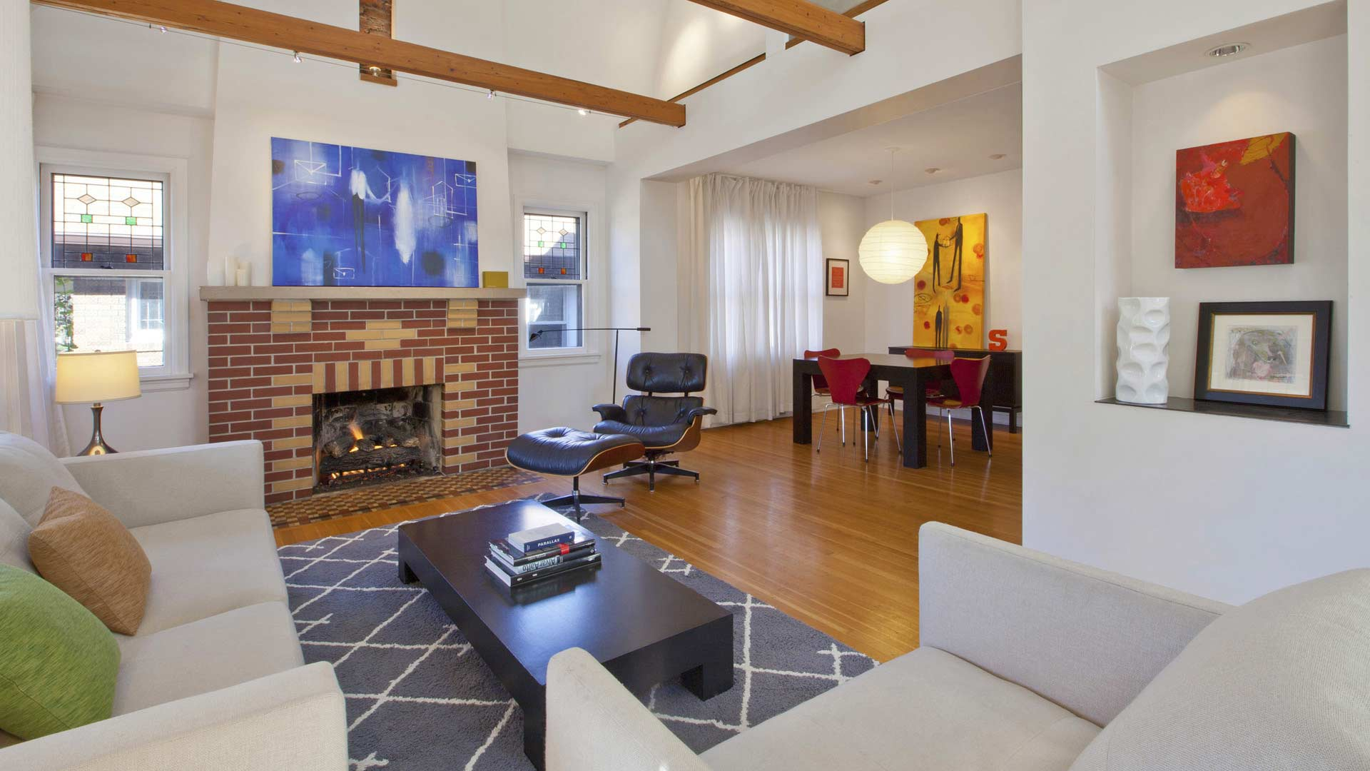 Classic Irvington Tudor Remodel - Front Room - Christopher Short, Architect, Indianapolis, HAUS Architecture