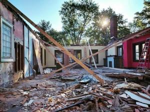 Modern Broad Ripple Craftsman Renovation Demolition - WERK Building Modern