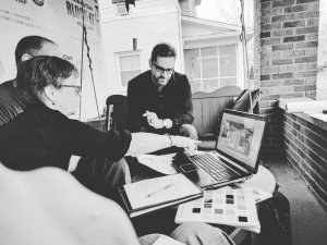 Broad Ripple Craftsman Renovation - Architect Client Meeting - WERK Building Modern, HAUS Architecture, Christopher Short, Architect