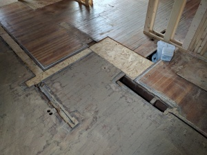 Broad Ripple Modern Craftsman Renovation - floor patching - WERK Building Modern