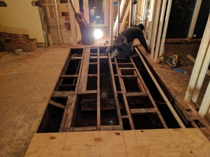 Broad Ripple Modern Craftsman Renovation - floor reframing - WERK Building Modern