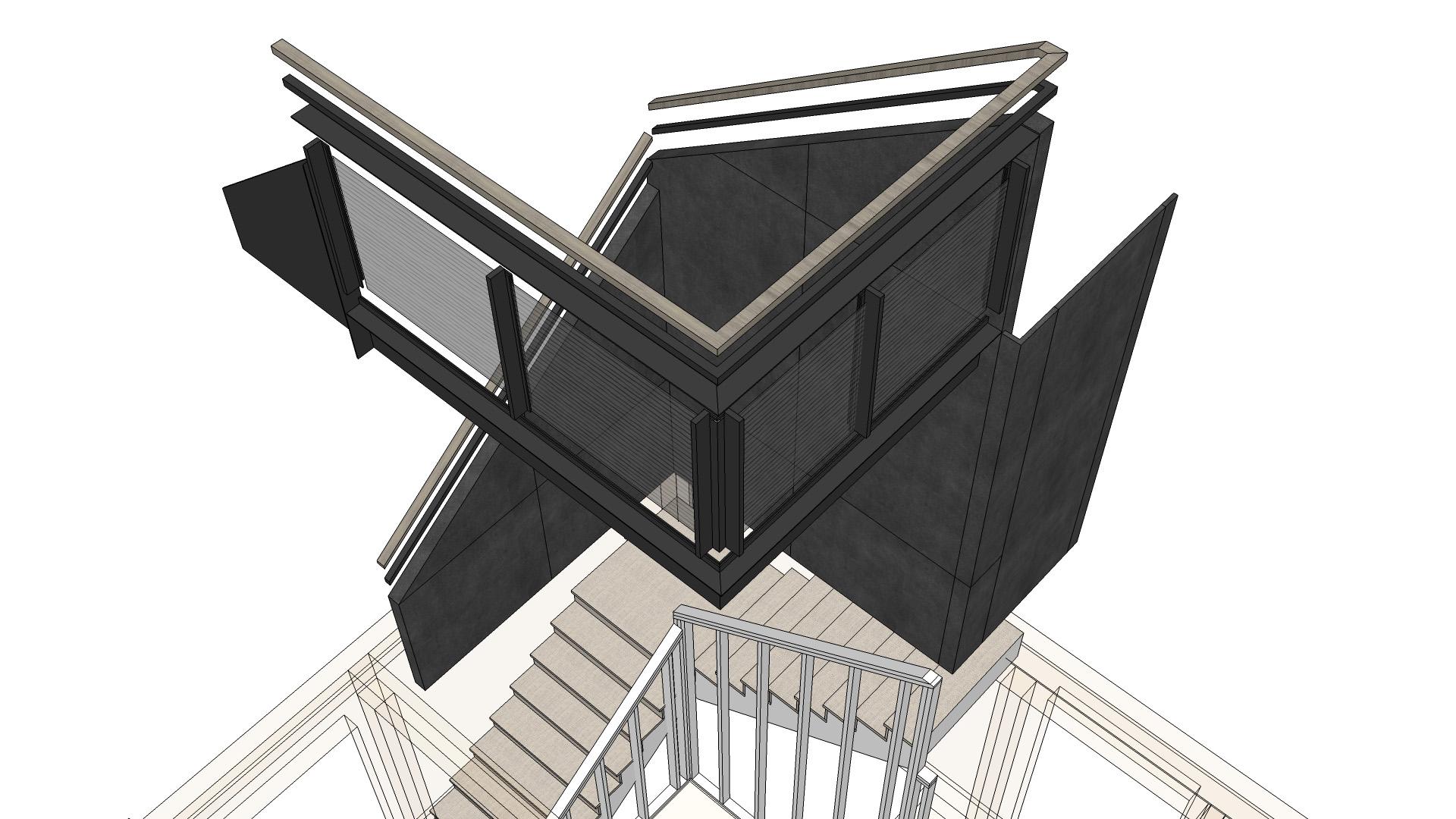 Scandinavian Rustic Cabin - Stair Axon