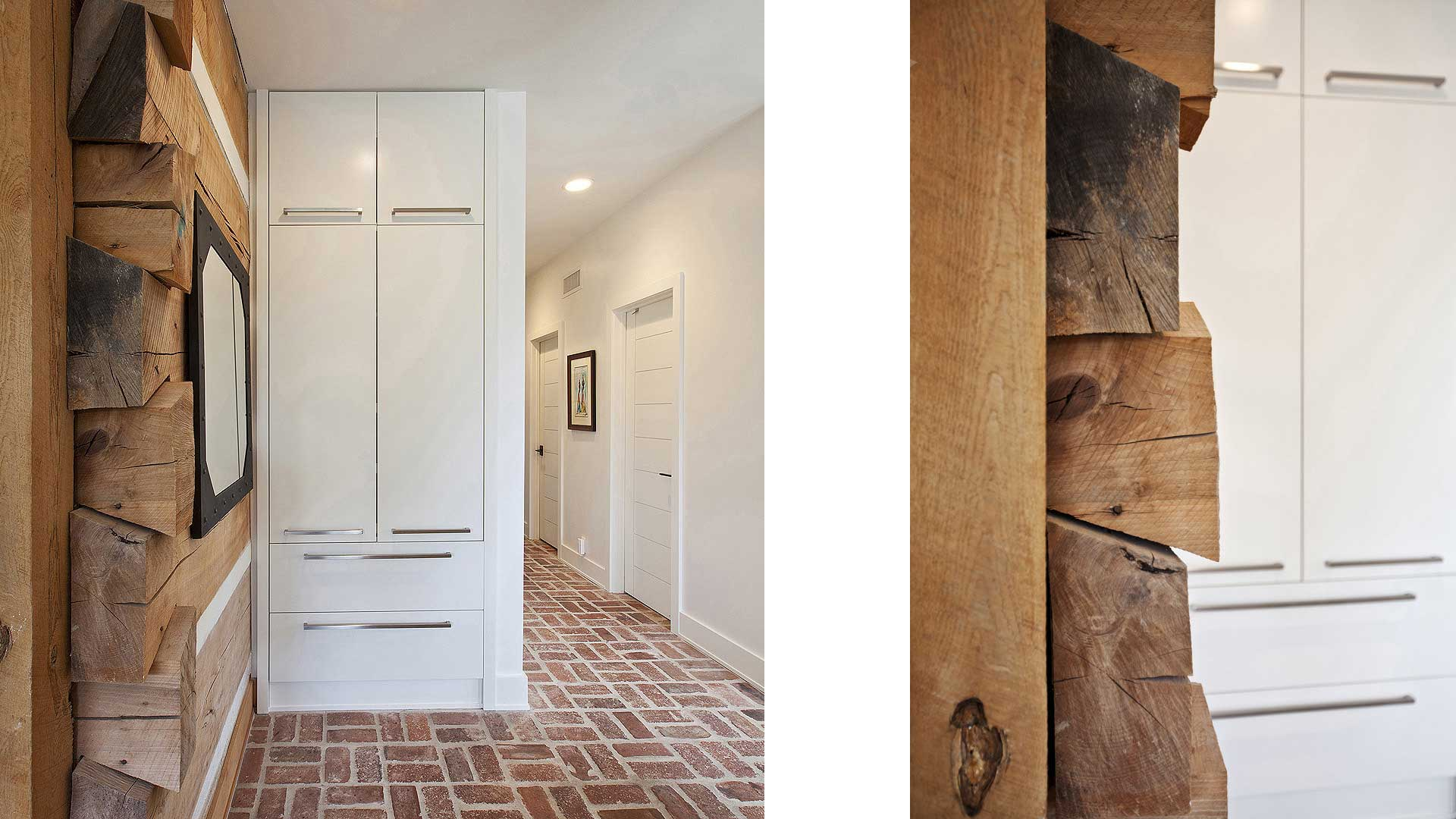 Scandinavian Rustic Cabin - Pantry Detail - Christopher Short, Architect, Indianapolis, HAUS Architecture