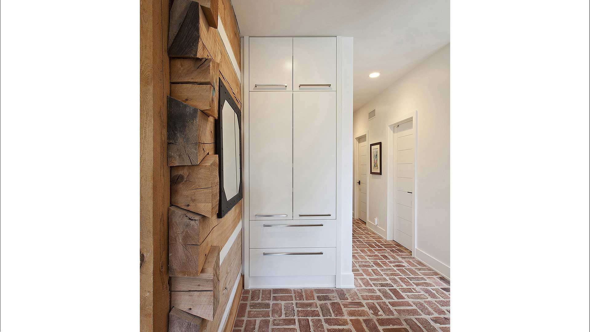 Scandinavian Rustic Cabin - Pantry Cabinet - Christopher Short, Architect, Indianapolis, HAUS Architecture