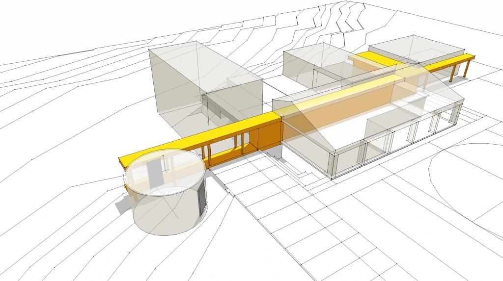 New Modern House Ditch - Concept Diagram Front