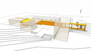 New Modern House Ditch - Concept Diagram Rear - HAUS Architecture, Christopher Short, Indianapolis Architects