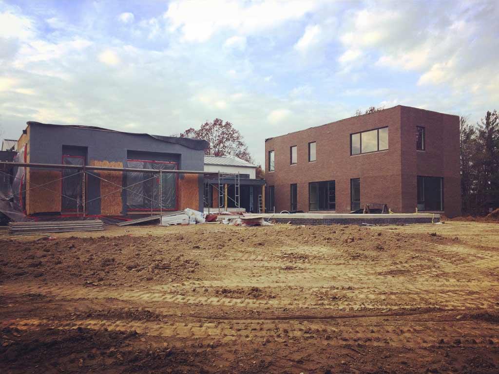 New Modern House Ditch - Exterior Cladding Process