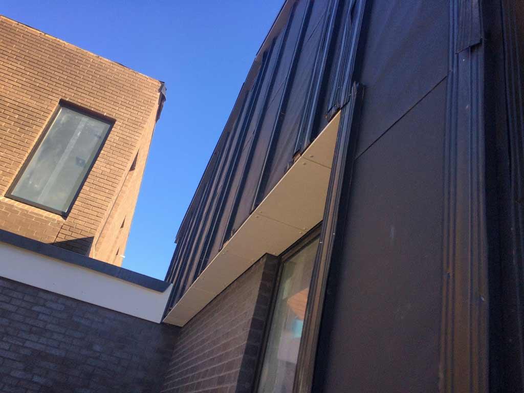 New Modern House Ditch - Siding Detail