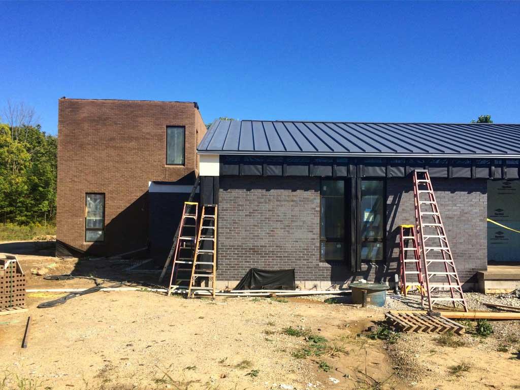 New Modern House Ditch - Exterior Cladding Mock-up