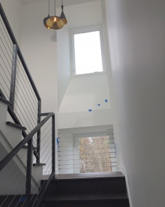 New Modern House Ditch - Architectural Stair Progress - Christopher Short, Architect, Indianapolis, HAUS Architecture