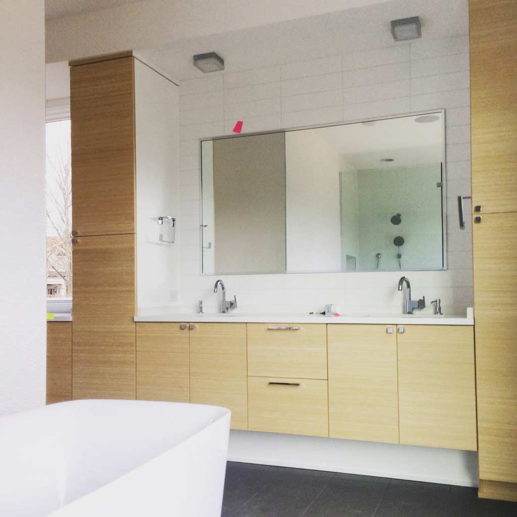 New Modern House Ditch - Master Bathroom Detail