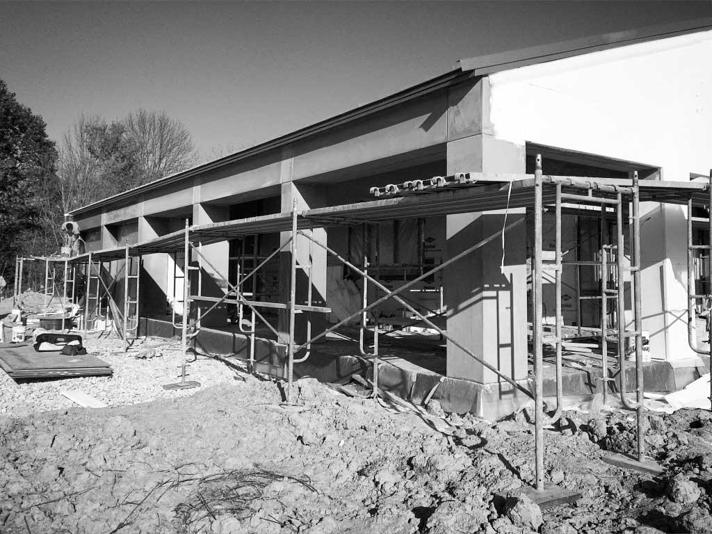 New Modern House Ditch - Exterior Cladding Progress