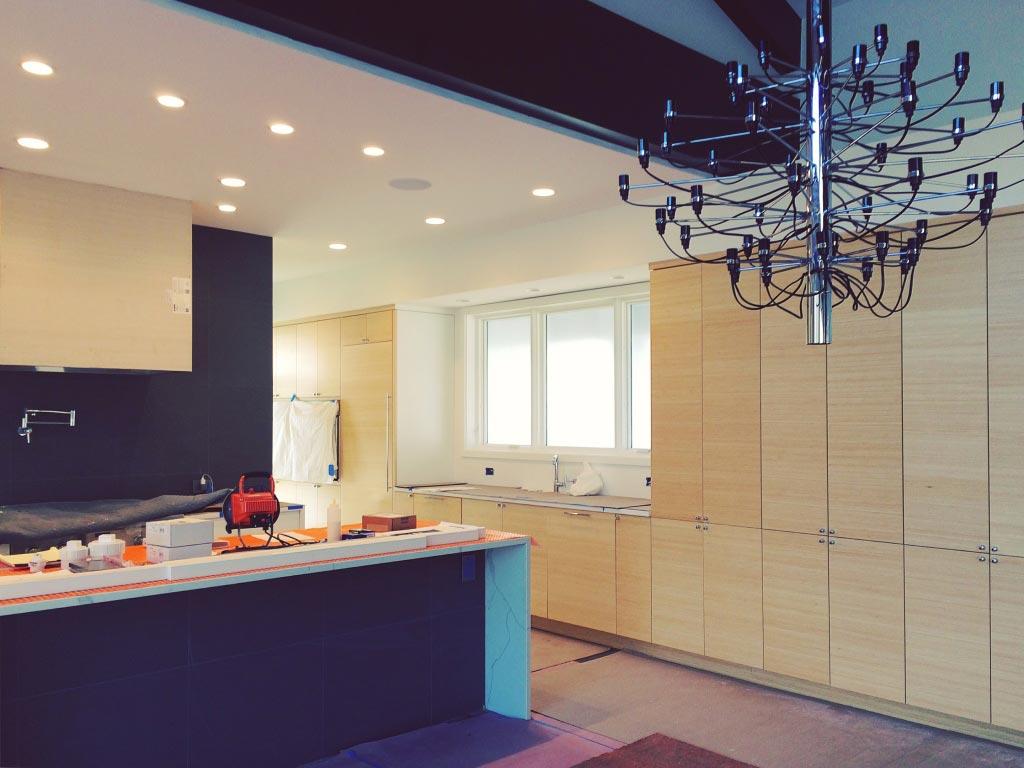 New Modern House Ditch - Main Living Space Progress