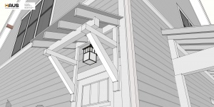 New Carriage House - Old Northside - Awning Roof Detail - HAUS Architecture