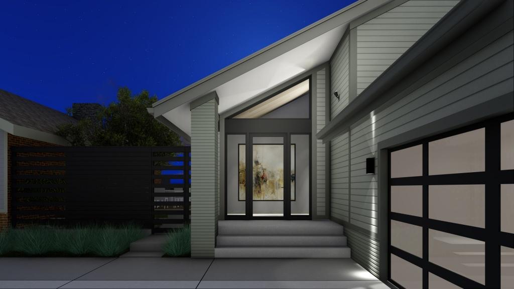 Modern Lakehouse - Clearwater - Front Door, Derek Mills, HAUS Architecture