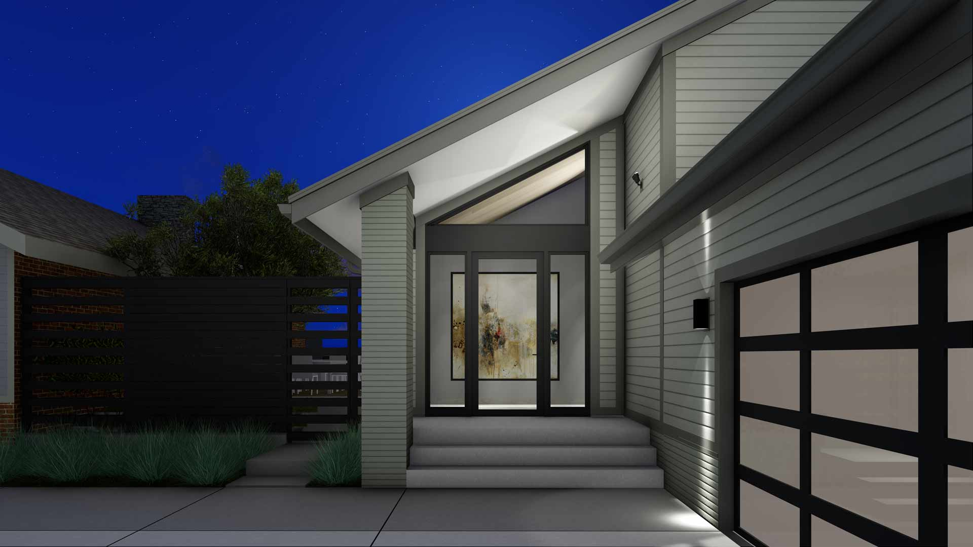 Modern Lakehouse - Clearwater - Front Door
