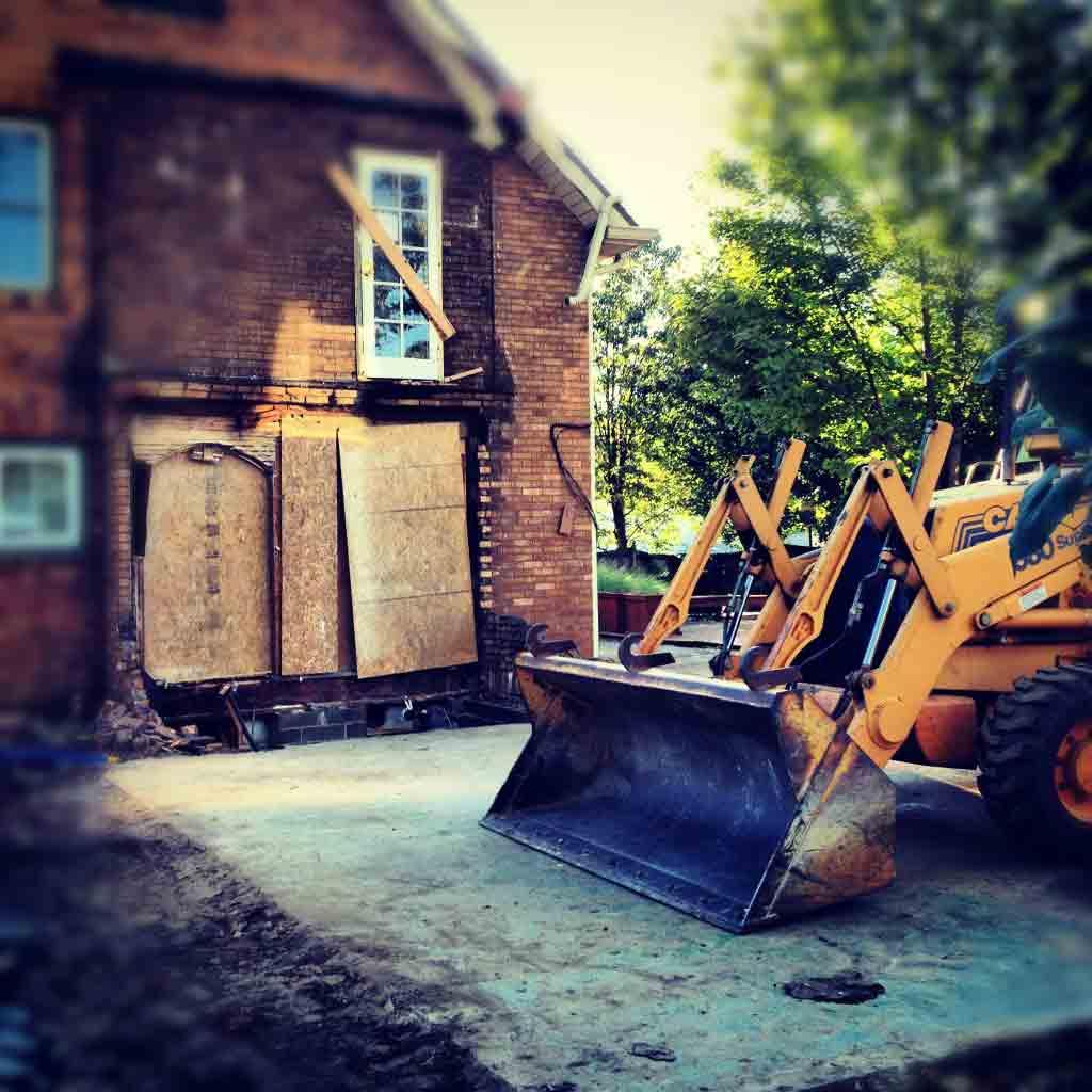 Butler Tarkington Modern Tudor - Pre-existing Addition Removed