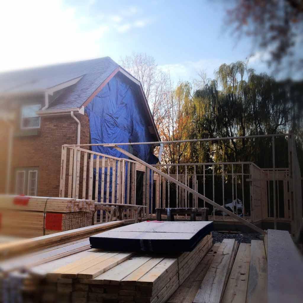 Butler Tarkington Modern Tudor - new framing underway