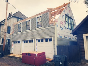 New Carriage House - Old Northside - framing rework