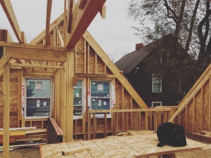 New Carriage House - Old Northside - the framing is wrong