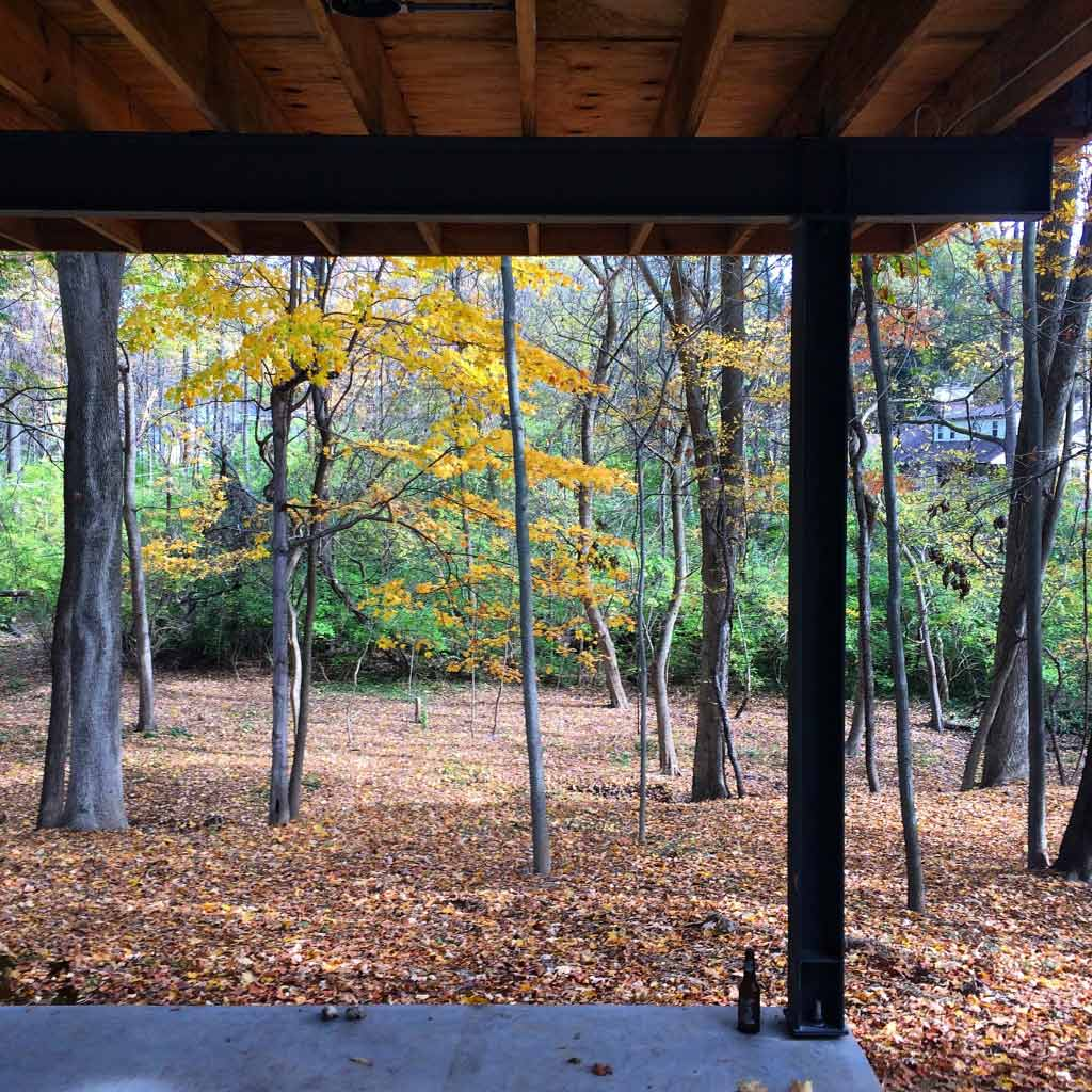 Midcentury Modern Renovation 2 - view from screened porch