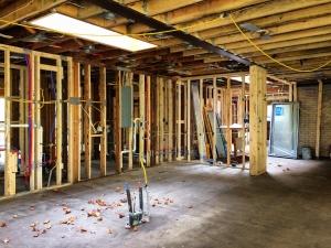 Midcentury Modern Renovation 2 - Kitchen Area Progress, Steel Beam - HAUS Architecture