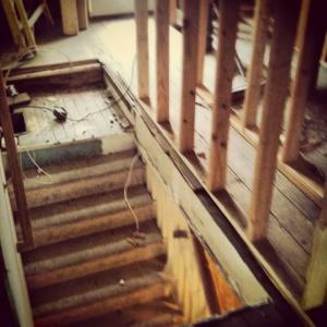 Butler Tarkington Modern Tudor - Phase 2 interior demolition - WERK Building Modern - HAUS Architecture