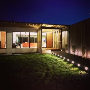 New Modern House 1 - Entry Bridge - Christopher Short, Architect, Indianapolis, HAUS Architecture