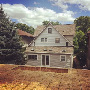 New Carriage House - Old Northside - Loft Deck Completed