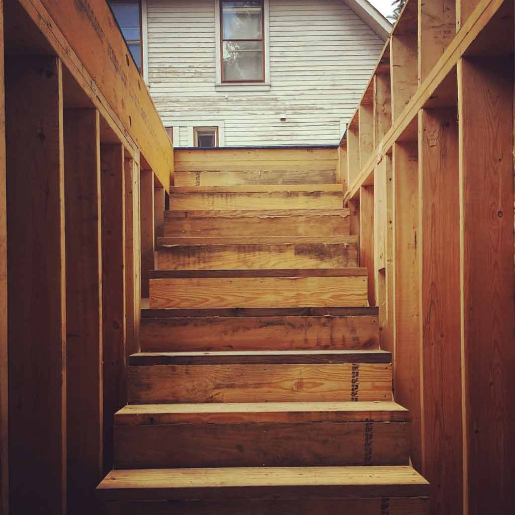 New Carriage House - Old Northside - Stair Rough