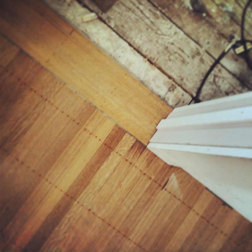 Butler Tarkington Modern Tudor - Top Nail Oak Flooring Details