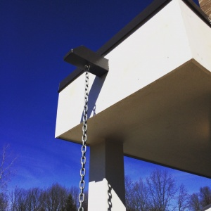 New Modern House Ditch - Scupper Detail - HAUS Architecture