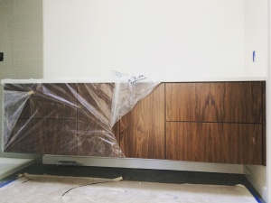 Midcentury Modern Renovation 2 - Master Vanity Installation - Christopher Short, Architect, Indianapolis, HAUS Architecture