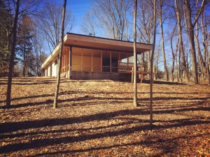 Midcentury Modern Renovation 2 - February 2017 Exterior - Christopher Short, Architect, Indianapolis, HAUS Architecture