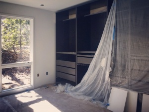 Midcentury Modern Renovation 2 - Master Closet Installation