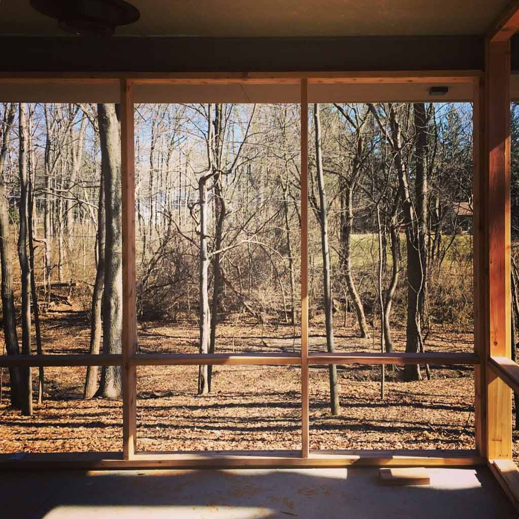 Midcentury Modern Renovation 2 - Screened Porch View