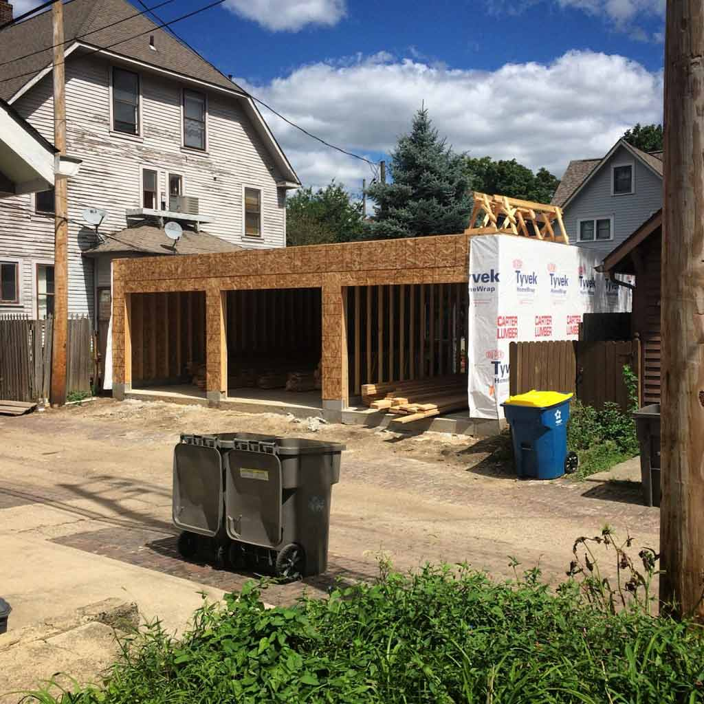 New Carriage House - Framing Underway