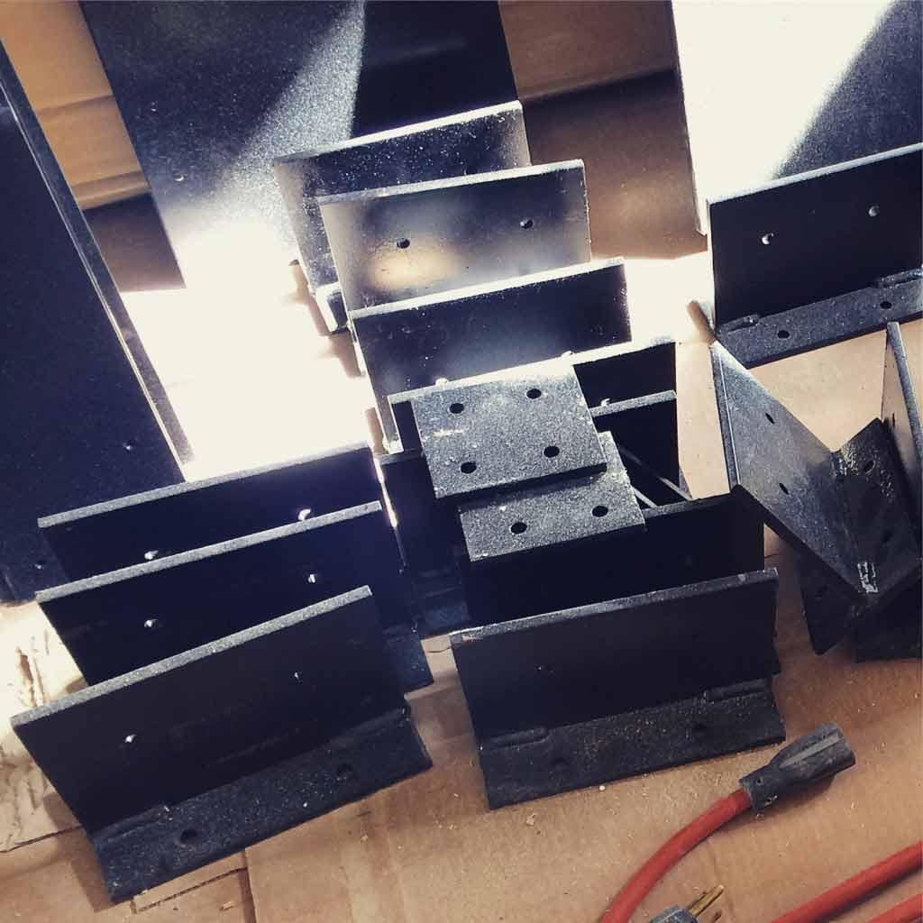 Broad Ripple Modern Craftsman Renovation - Custom Steel Backets