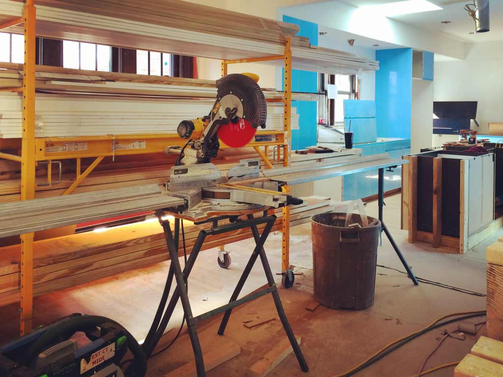 Broad Ripple Modern Craftsman Renovation - Trim Carpentry Underway